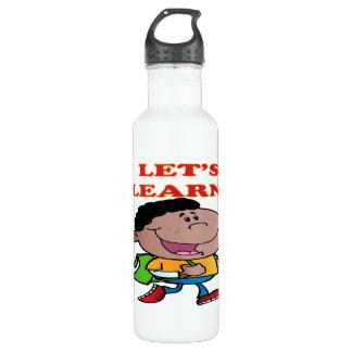 Lets Learn 2 Stainless Steel Water Bottle