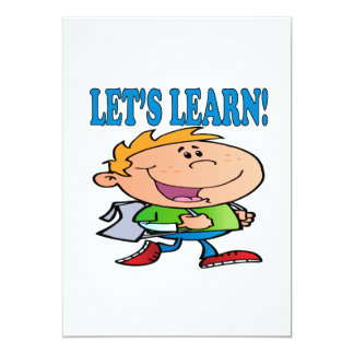 """Lets Learn 3 5"""" X 7"""" Invitation Card"""