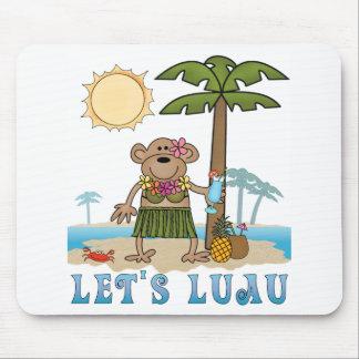 Lets Luau (Girl Monkey) Mouse Pad