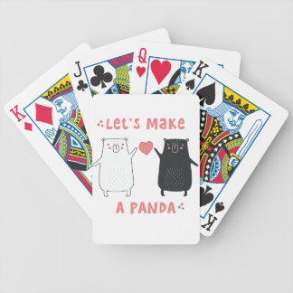 let's make a panda bicycle playing cards