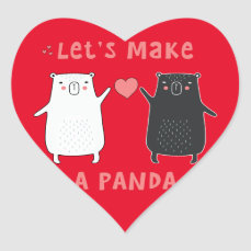 let's make a panda heart sticker