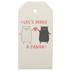let's make a panda wooden gift tags