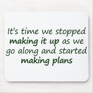 Let's make a plan Standard Mouse Pad