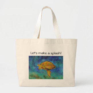 Let's make a splash! beachbag large tote bag