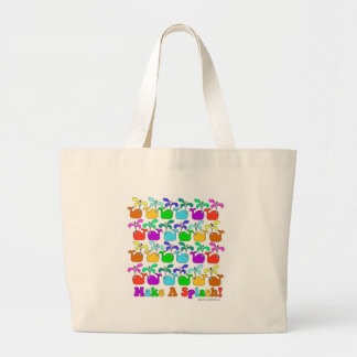 Lets Make A Splash Large Tote Bag