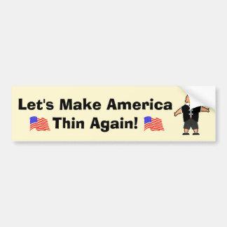 Let's Make America Thin Again Bumper Sticker