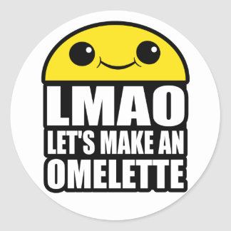 Let's Make an Omelette Classic Round Sticker