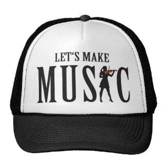 let's make female music violin player gorras de camionero