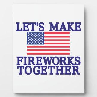 Lets Make Fireworks Plaque