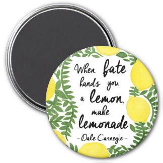 Let's Make Lemonade 3 Inch Round Magnet