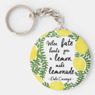 Let's Make Lemonade Basic Round Button Keychain