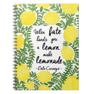 Let's Make Lemonade Note Books