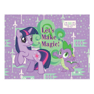 Lets Make Magic Postcard