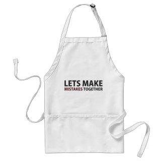 Lets Make Mistakes Together Adult Apron