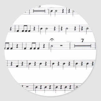 , Let's make music_ Classic Round Sticker