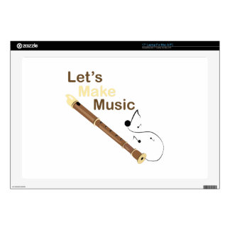 Lets Make Music Laptop Decal
