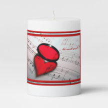 Sheet Music Candles | Zazzle