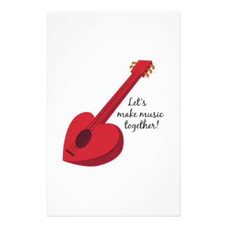 Let's Make Music Together! Stationery Design