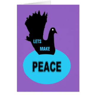 Lets Make Peace Black Dove Greeting Card