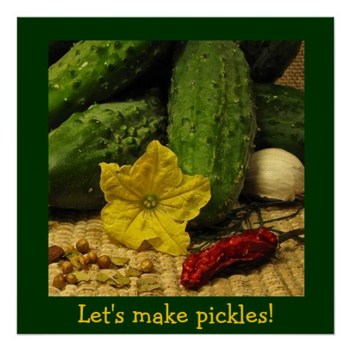 Lets Make Pickles Poster