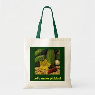Lets Make Pickles Tote Bag