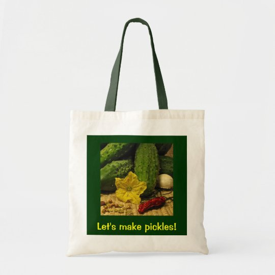 Lets Make Pickles Tote Bag