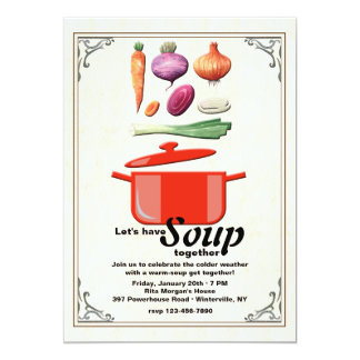 Let's Make Soup Invitation