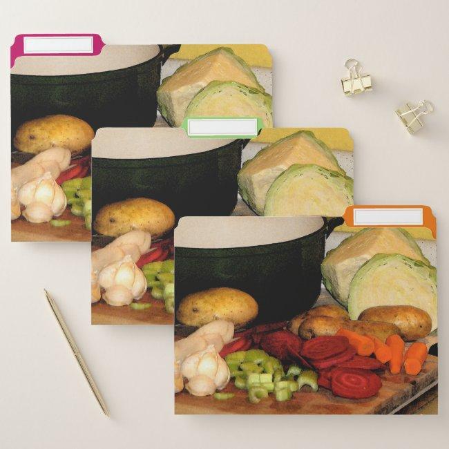 Lets Make Vegetable Soup File Folder Set