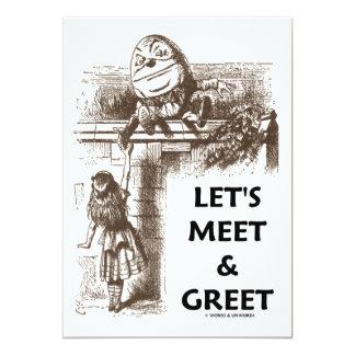 Let's Meet & Greet Alice Humpty Dumpty Wonderland Announcements