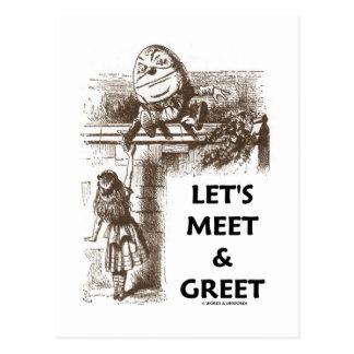 Let's Meet & Greet Alice Humpty Dumpty Wonderland Postcard