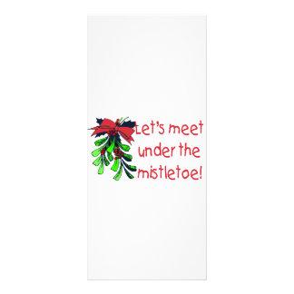 Let's Meet Under The Mistletoe Rack Card