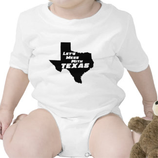 Let's Mess With Texas Black Romper