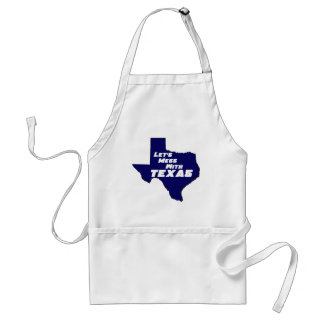 Let's Mess With Texas Blue Adult Apron