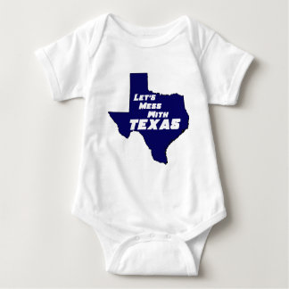 Let's Mess With Texas Blue Baby Bodysuit