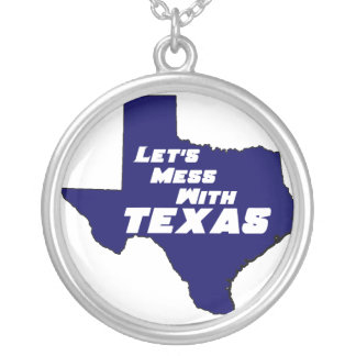 Let's Mess With Texas Blue Necklace