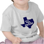 Let's Mess With Texas Blue T-shirt