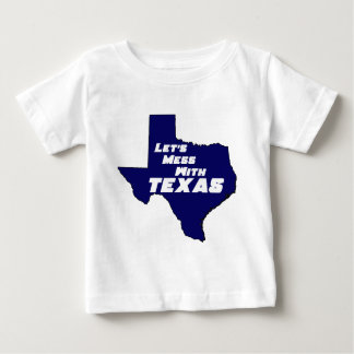 Let's Mess With Texas Blue Tee Shirt