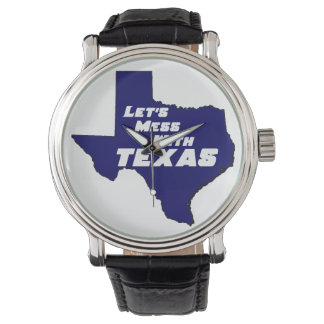 Let's Mess With Texas Blue Wristwatch