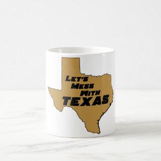 Let's Mess With Texas Brown Coffee Mug