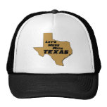 Let's Mess With Texas Brown Mesh Hats