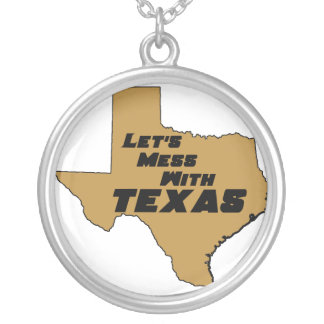 Let's Mess With Texas Brown Necklace