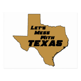 Let's Mess With Texas Brown Postcard