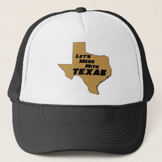 Let's Mess With Texas Brown Trucker Hat