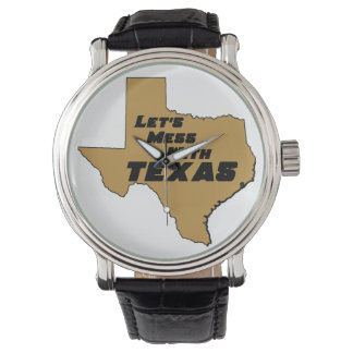 Let's Mess With Texas Brown Watches