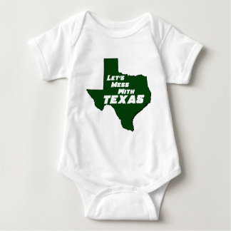 Let's Mess With Texas Green Baby Bodysuit