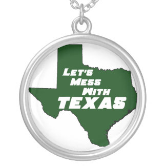 Let's Mess With Texas Green Necklace
