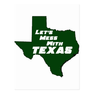 Let's Mess With Texas Green Post Cards