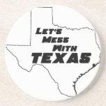 Let's Mess With Texas White Coaster