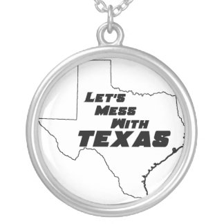 Let's Mess With Texas White Necklace