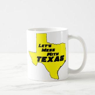 Let's Mess With Texas Yellow Coffee Mug